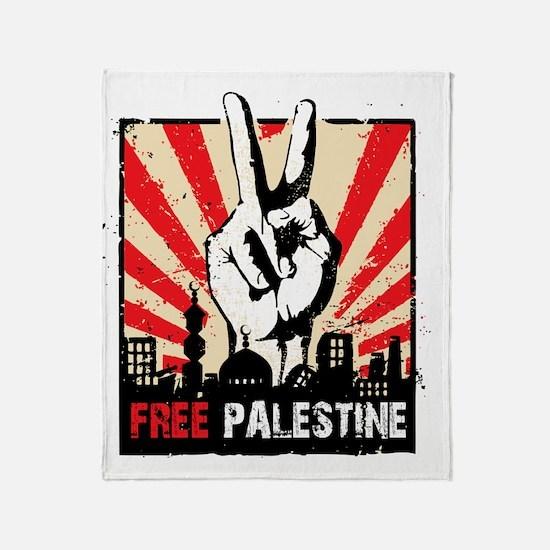 free palestine Throw Blanket