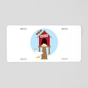 Hen House Aluminum License Plate