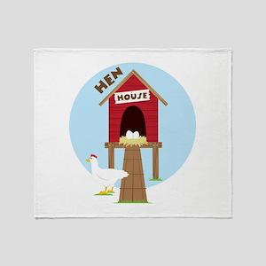 Hen House Throw Blanket