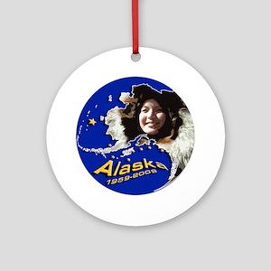 Alaska 50th Anniversary Round Ornament