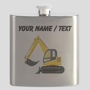 Custom Yellow Excavator Flask