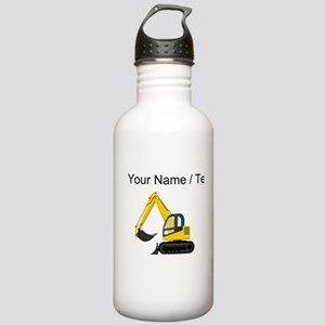 Custom Yellow Excavator Water Bottle