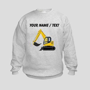 Custom Yellow Excavator Sweatshirt