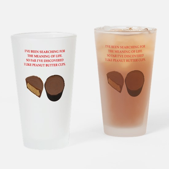 peanut butter cup Drinking Glass