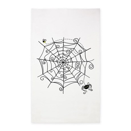 Spider Web 3'x5' Area Rug