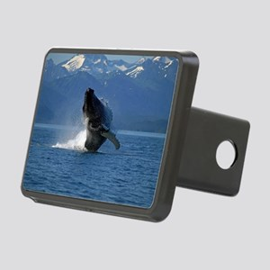 Humpback Whale Breaching A Rectangular Hitch Cover