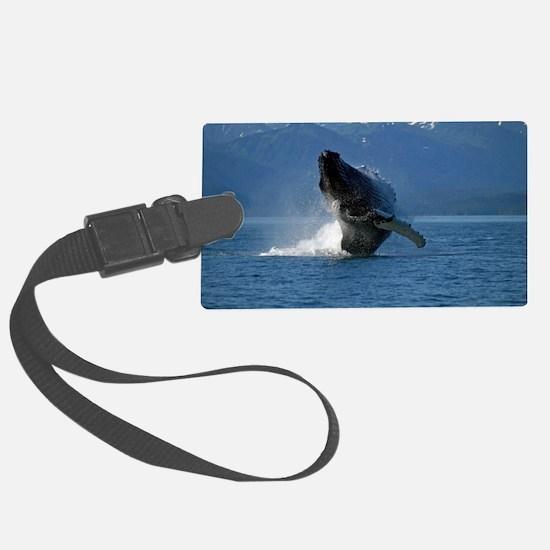 Humpback Whale Breaching Alaska Luggage Tag