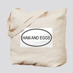 HAM AND EGGS (oval) Tote Bag