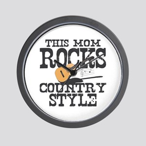 Mom Rocks Country Wall Clock