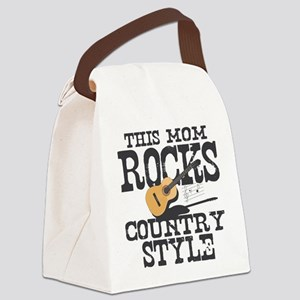Mom Rocks Country Canvas Lunch Bag