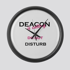 Deacon do not disturb Large Wall Clock