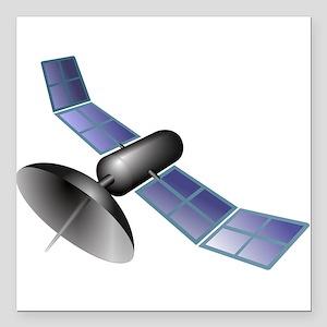 """Satellite Square Car Magnet 3"""" x 3"""""""