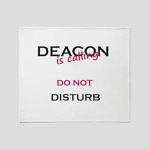 Deacon do not disturb Throw Blanket