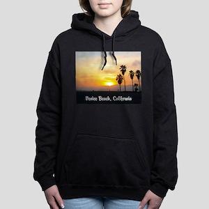Beach Sunset with Palm T Women's Hooded Sweatshirt