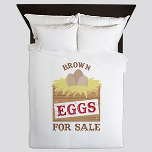 Brown Eggs Queen Duvet