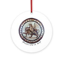 Bacchus God Of Wine Ornament (Round)