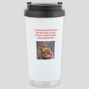 corned beef Travel Mug