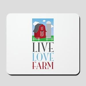 Live Love Farm Mousepad