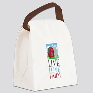 Live Love Farm Canvas Lunch Bag