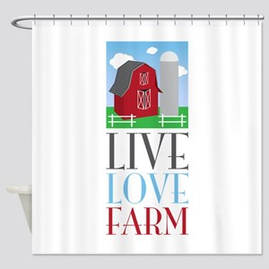 Live Love Farm Shower Curtain
