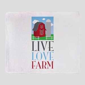Live Love Farm Throw Blanket