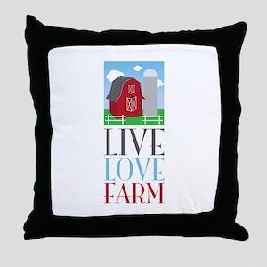Live Love Farm Throw Pillow