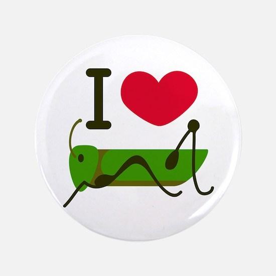 """I Love Grasshopper 3.5"""" Button (100 pack)"""