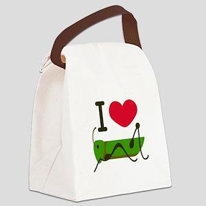 I Love Grasshopper Canvas Lunch Bag