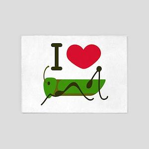 I Love Grasshopper 5'x7'Area Rug