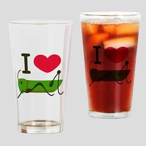 I Love Grasshopper Drinking Glass