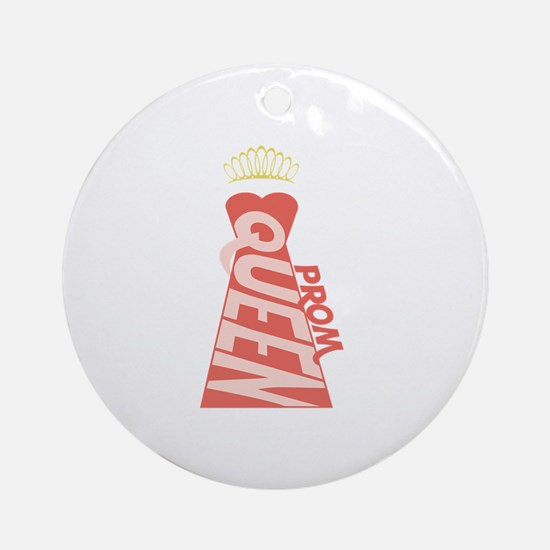 Prom Queen Dress Ornament (Round)