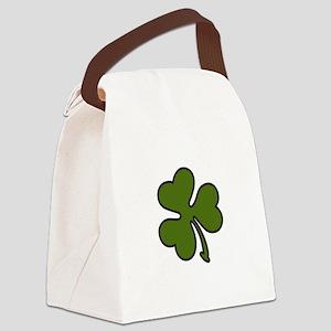 Three Leaf Clover Canvas Lunch Bag