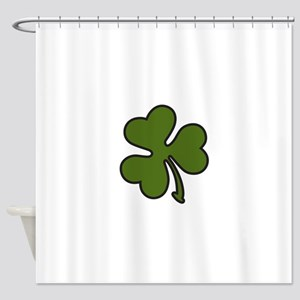 Three Leaf Clover Shower Curtain