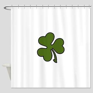 Three Leaf Clover Shower Curtain