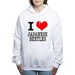 JAPANESE BEETLES.png Women's Hooded Sweatshirt
