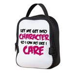 Get Into Character/Like I Care Black/Magenta Neopr