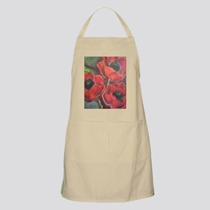 Three Red Poppies Apron