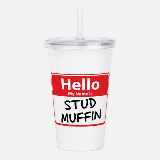 stud muffin.png Acrylic Double-wall Tumbler