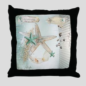 Summer Sea Treasures  Throw Pillow