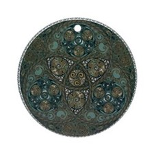 Celtic Trefoil Circle Ornament (Round)