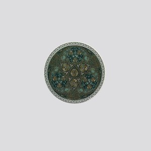 Celtic Trefoil Circle Mini Button