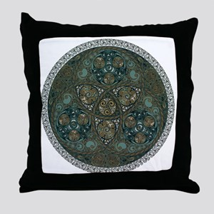 Celtic Trefoil Circle Throw Pillow