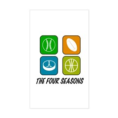 Four Seasons Rectangle Decal