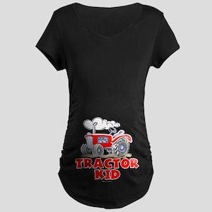Red Tractor Kid Maternity Dark T-Shirt
