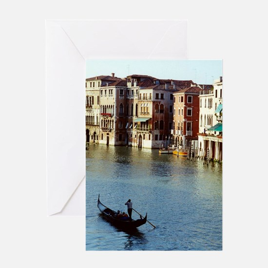 Venice Souvenir Gondola Ride on Grand Canal Greeti