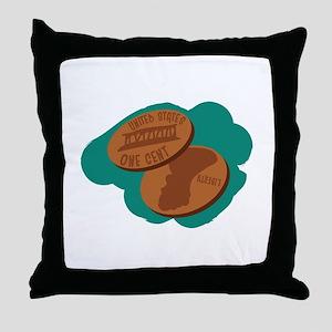 Pennies Throw Pillow