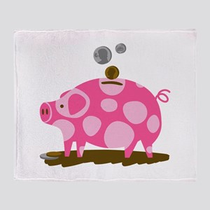 Piggy Bank Throw Blanket