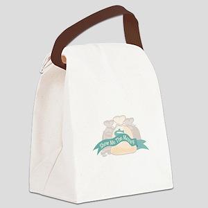 Show Me The Money Canvas Lunch Bag