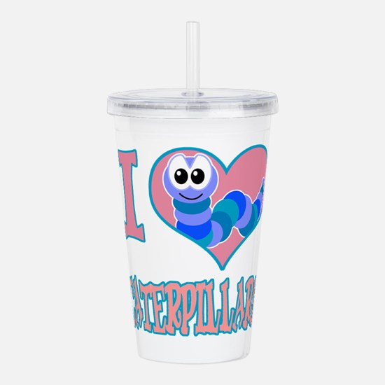 love caterpillars.png Acrylic Double-wall Tumbler