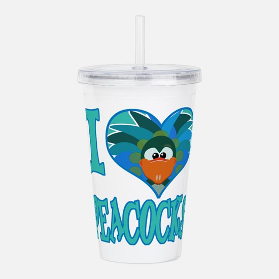 love peacocks.png Acrylic Double-wall Tumbler